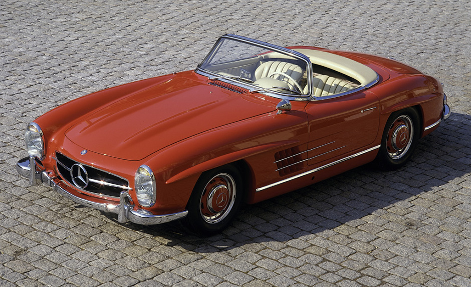 Mercedes-Benz 300 SL Roadster (W 198, 1957 bis 1963). ; Mercedes-Benz 300 SL Roadster (W 198, 1957 to 1963).;