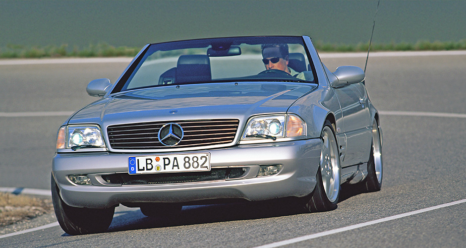 Gene aus dem Sportwagenbau: Mercedes-Benz SL 73 AMG (1999-2001) der Baureihe R 129 (1989-2001). ; Sports car DNA: the Mercedes-Benz SL 73 AMG (1999-2001) of the R 129 series (1989-2001).;
