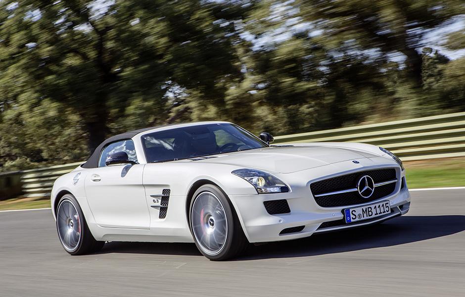Mercedes-Benz SLS AMG GT Roadster; designo mysticweiss 2;(BR 197); Paris 2012