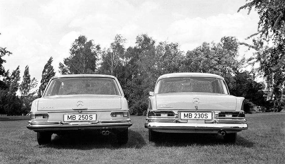 Mercedes-Benz Typ 250 S und 230 S aus dem Jahre 1965. ; Mercedes-Benz 250 S and 230 S, 1965.;