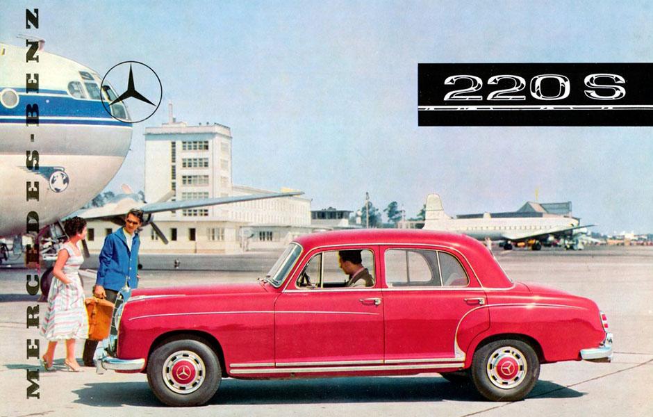 Mercedes-Benz 220 S (W 180, 1956 bis 1959). Titelseite eines Prospekts von 1956. ; Mercedes-Benz 220 S (W 180, 1956 to 1959). Cover from a 1956 brochure.;
