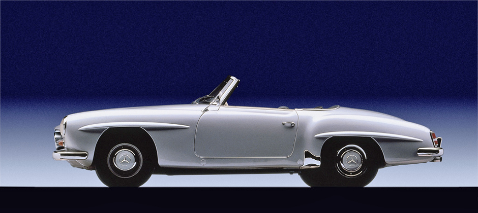 Roadster-Fahrspaß der besonderen Art: 190 SL (W121) A very special way to enjoy roadsters: 190 SL (W121)