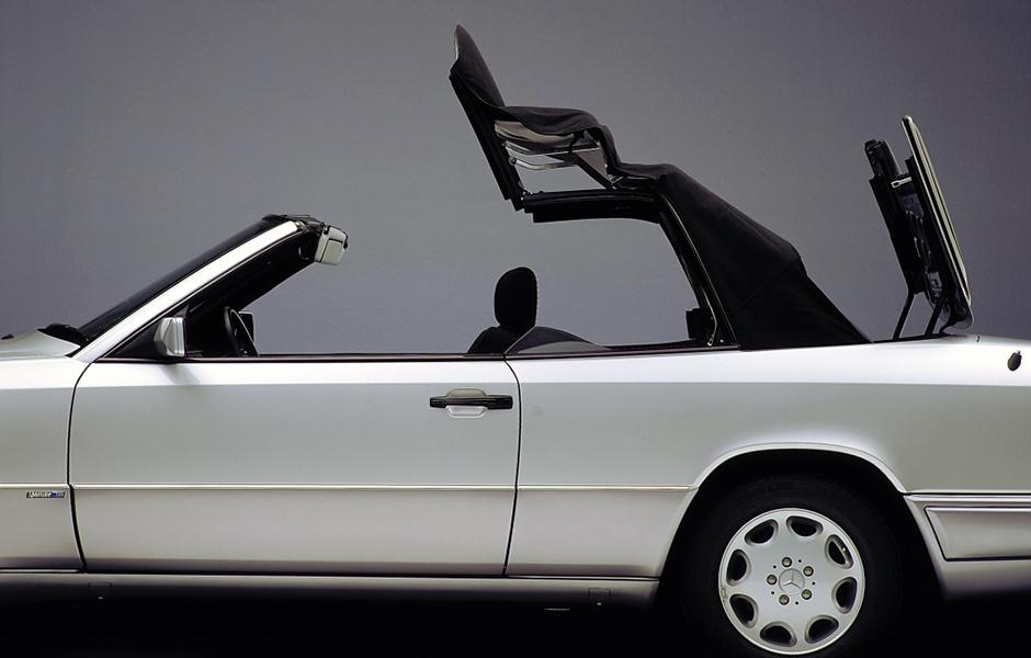 Mercedes-Benz E-Klasse-Cabriolet, Baureihe 124, Verdeck. Mercedes-Benz E-Klasse Cabriolet, 124 series