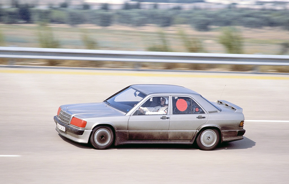 190E 2.3 16v at speed