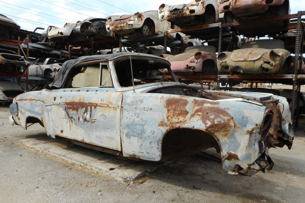 1957 Mercedes-Benz 220S Ponton Convertible Project Car for Restoration